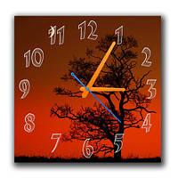 Вечерний закат - часы настенные 30*30 см