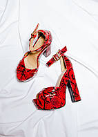 Красные босоножки на устойчивом каблуке Missguided, размер 38, арт. 0968