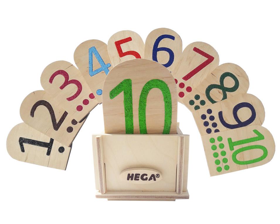 Сенсорній набір Hega Цифри та Крапки за методикою Монтессорі №1 (66)