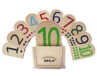 Сенсорній набір Hega  Цифри та Крапки  за методикою Монтессорі №1 (66), фото 1