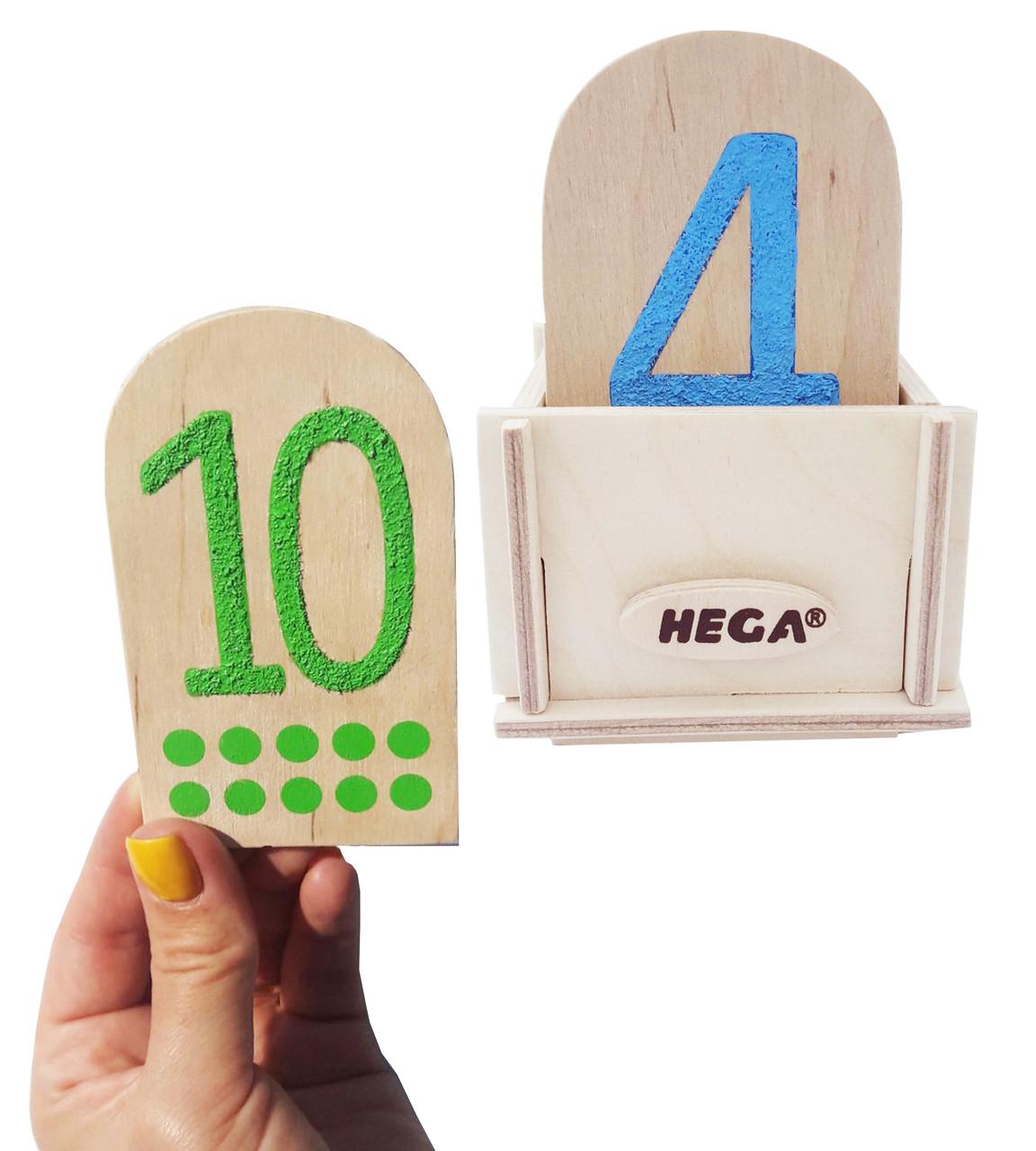 Сенсорний набір Hega  Цифри та Крапки  за методикою Монтессорі №2 (226)
