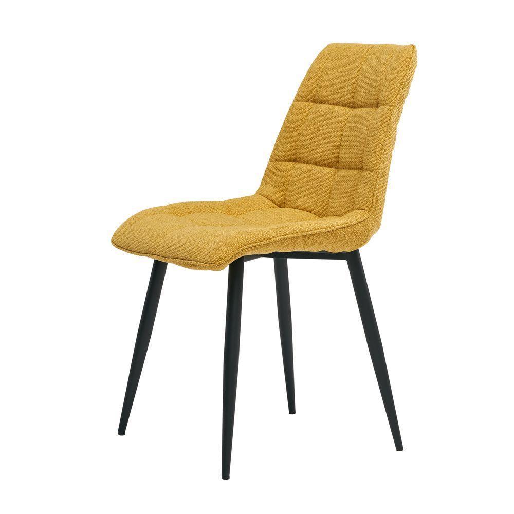 Обеденный стул Glen (Глен) желтый лимон, рогожка от Concepto