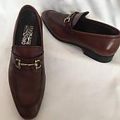 Туфли мужские Ferragamo Италия оригинал, натуральная кожа, размер 41