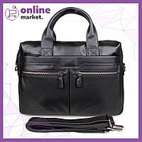 Мужская сумка из натуральной кожи Westal A4, Мужской портфель