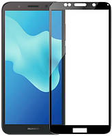 Huawei Y5 Prime (2018) Colorful Tempered Glass Black Защитное Стекло