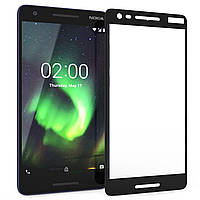 Nokia 2 (2018) Colorful Tempered Glass Black Защитное Стекло