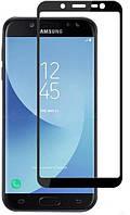 Samsung J400F Galaxy J4 (2018) Colorful Tempered Glass Black Защитное Стекло