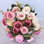 Піоновидна троянда Остін кораловий 46 см, фото 2