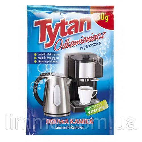 Засіб для видалення накипу та чищення кавоварок і чайників Tytan odkamieniacz 30 г. (Антинакип)