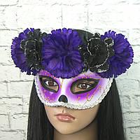 Маска День мертвих (фіолетова)