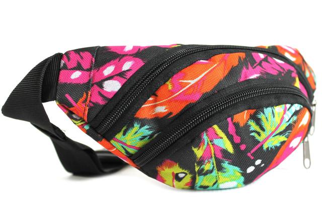 Детская разноцветная сумка на пояс (бананка)  B10