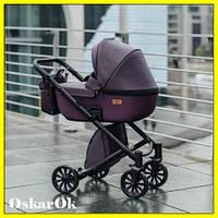Детская коляска ANEX CROSS 2 в 1 CR 09 dark plum, универсальна коляска для новорожденных, коляска-трансформер