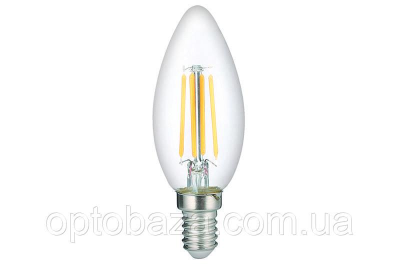 LED Лампа Vestum филамент C35 5W 4100K 220V E14