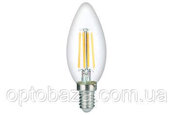 LED Лампа Vestum филамент C35 5W 4100K 220V E14, фото 2