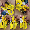 В'єтнамки на танкетці шльопанці ЖОВТІ босоніжки з квітами жіночі на підборах у єтнамки жовті на танкетці, фото 5