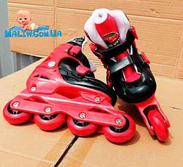 Детские ролики Disney Cars RS0116 размер 30-33 Красный