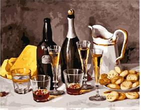 Картина за номерами вино з фруктами