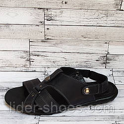 Мужские летние сандалии черного цвета