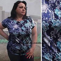 Женская туника-футболка большие размеры с 50 по 64 размер, фото 1