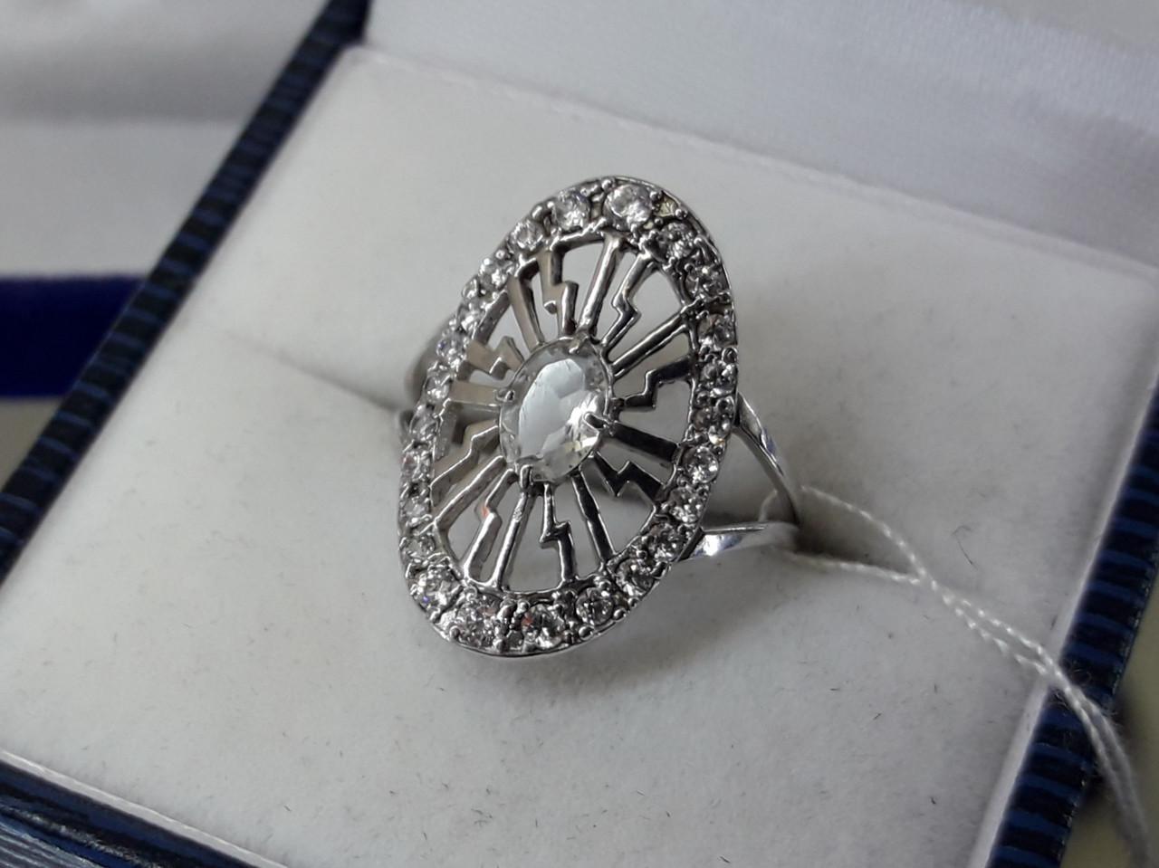 Срібне кільце з кубічним цирконієм