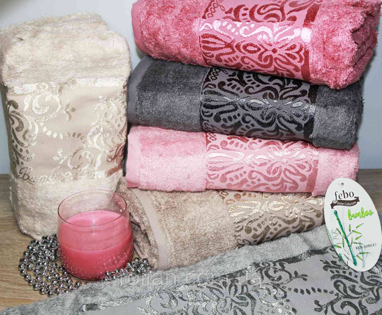 Лицевые бамбуковые полотенца Bamboo Damask