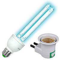 Кварцевая бактерицидная лампа UVC 25W с включателем (безозоновая)