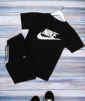 Мужской комплект летний (футболка, шорты) Nike, Puma, Air Jordan, Under Armour, Fila, New Balance черный