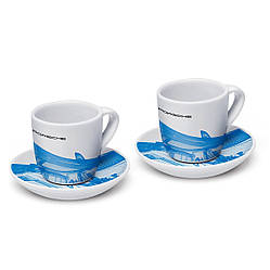Чашки эспрессо коллекционные Porsche, 2 шт., №1, Taycan, ограниченный выпуск