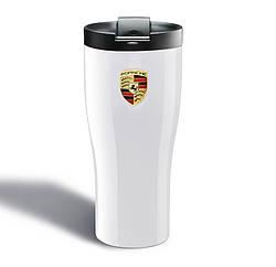 Термокружка Porsche, белая (Carrara White)