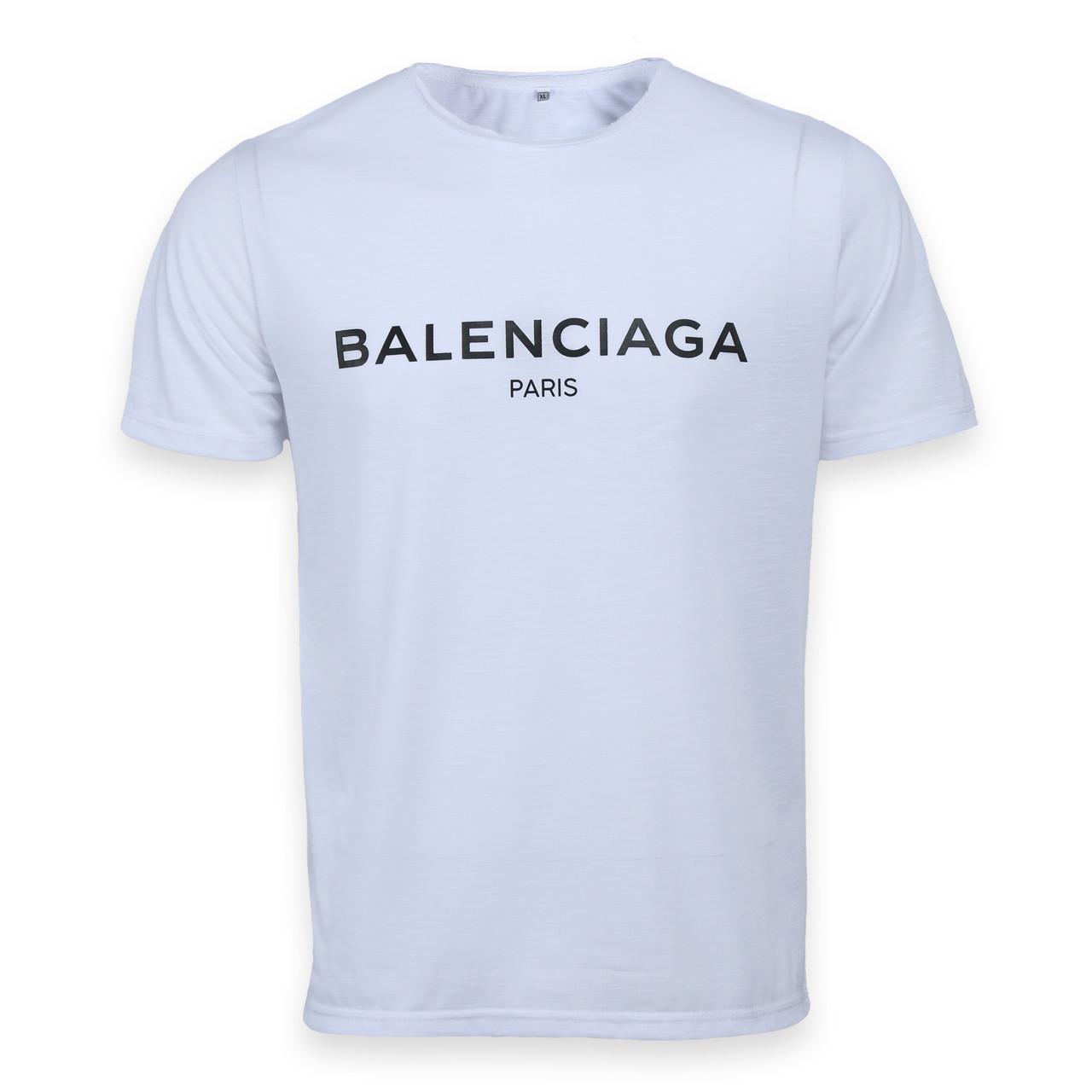 Футболка мужская белая с принтом BALENCIAGA Ф-10 WHT M(Р) 19-646-021
