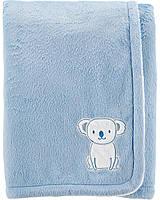 """Плед для новорожденного Carter's голубой """"Коала"""", мягкое теплое плюшевое одеяло"""