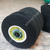 Нить нитка швейная чёрная 400м (00) ➜ ХБ нитка для шитья ➜ Нитки для шиття
