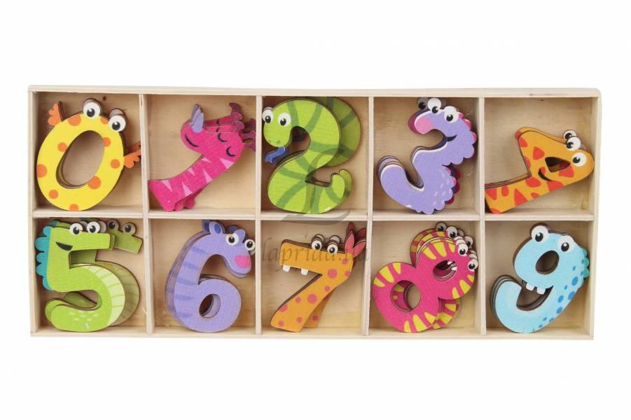 Декоративные цифры с глазками разноцветные