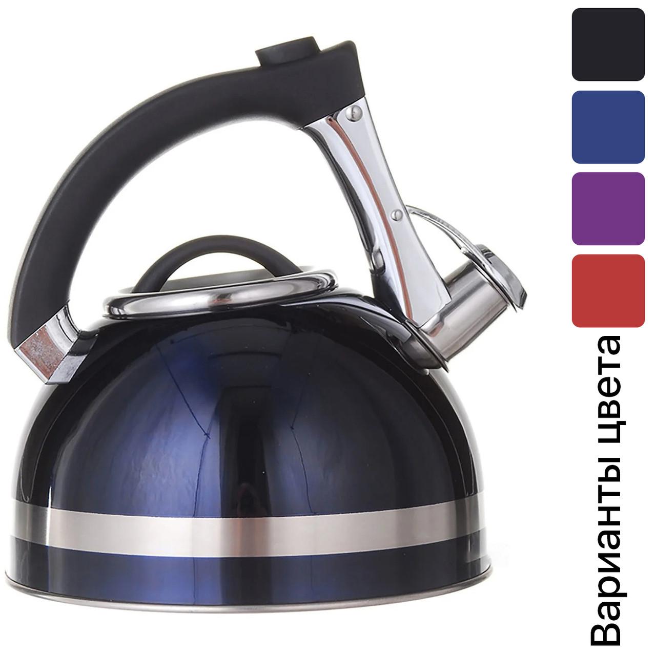 Чайник зі свистком для плити нержавійка A-PLUS 3.0 л