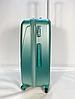 Чемодан пластиковый на колесах FLY K310 большой 110 л. размер L цвет зелено-розовый, фото 2
