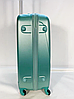 Чемодан пластиковый на колесах FLY K310 большой 110 л. размер L цвет зелено-розовый, фото 3