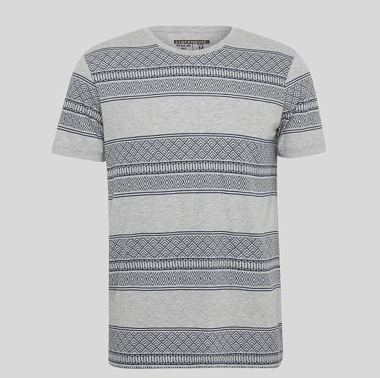 Фирменная стильная серая футболка С&A с принтом оригинал