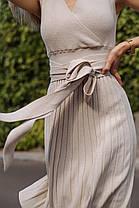 Летнее платье в бежевом цвете, фото 2