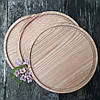 Доска для пиццы 25 см.кухонная разделочная круглая деревянная из ясеня, дуба РД-4, фото 8