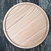 Доска для пиццы 40 см. круглая деревянная разделочная доска из ясеня, дуба РД-9, фото 4