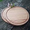 Доска для пиццы 40 см. круглая деревянная разделочная доска из ясеня, дуба РД-9, фото 7