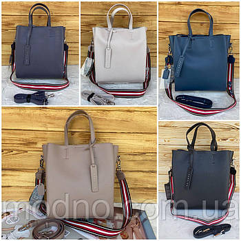 Женская кожаная сумка вместительная Polina & Eiterou Fashion
