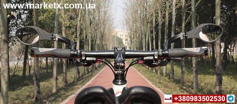 Дзеркало заднього виду Hafny на велосипед велосипедне зеркало левое модель HF-MR081L, фото 3