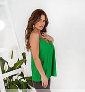 / Размер 42,44,46 / Женская лёгкая повседневная майка  / 1070-Зелёный, фото 3