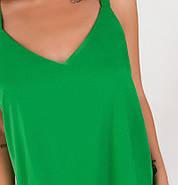 / Размер 42,44,46 / Женская лёгкая повседневная майка  / 1070-Зелёный, фото 2