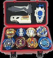 Набор бейблейд бокс, Beyblade Box 8 шт. Серия GT Fafnir F5 (Фафнир Ф5)