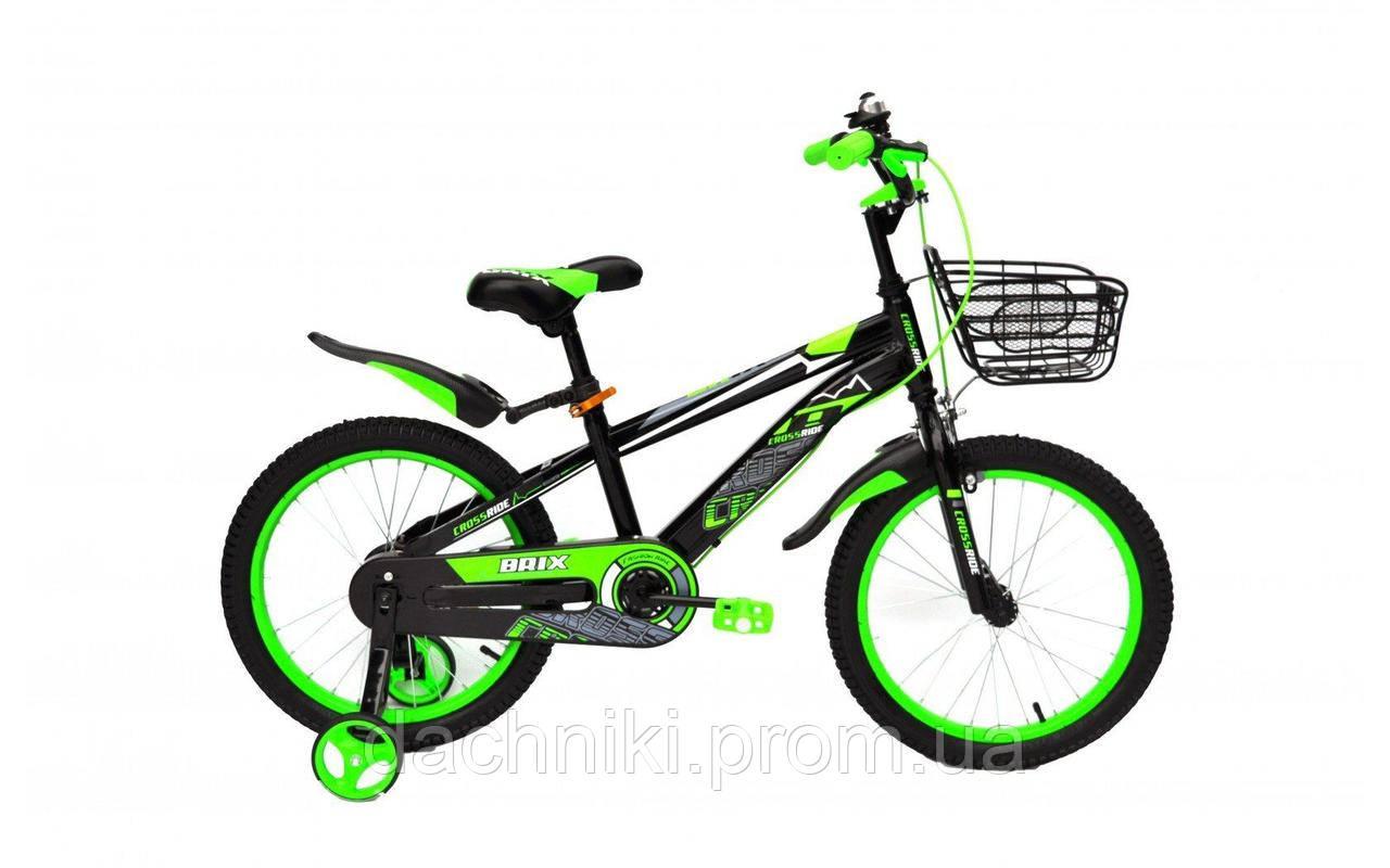 """Детский велосипед CROSSRIDE BRIX 18"""" (0457)"""
