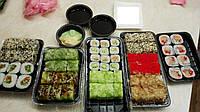 Упаковка для суши с делениями ПС-610ДЧ 27,5*19,5*40 (50 шт), фото 1