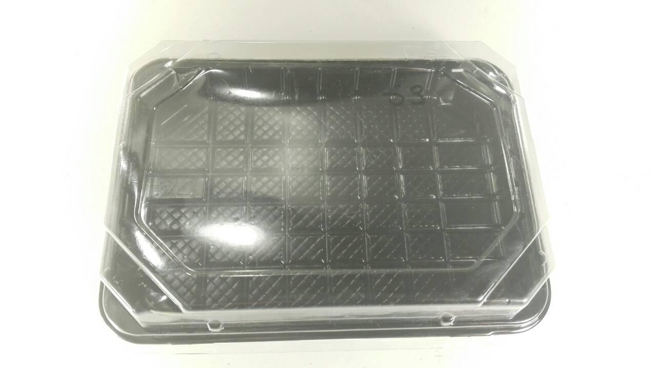 Упаковка для суши ПС-63ДЧ 16,8*11,5 вместе с кышкой ПС63К  (50 шт)