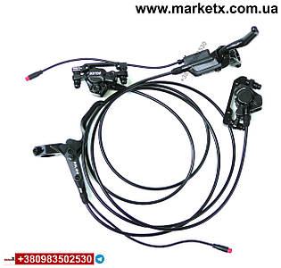 Гидравлические дисковые тормоза на электро велосипед с датчиками